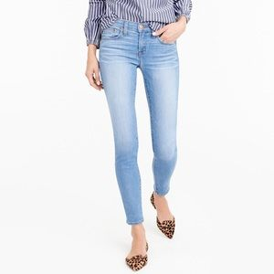 "J. Crew 8"" Toothpick Jeans Chimney Light Wash"